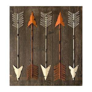 Rustic Bohemian Wood and Iron Wall Art